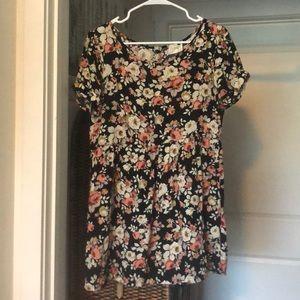 Floral LA hearts dress